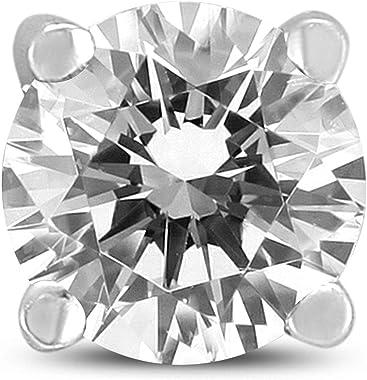 Pour homme 3/8carats de diamants ronds seul à tige Boucles d'Oreilles en or blanc 14ct