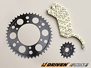 Driven Racing Gold RK 530MAXX Chain and Evo-Spec Sprocket Kit for Honda VTR 1000 (1997-2005)
