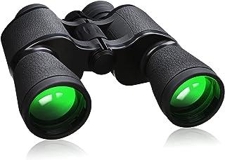 دوربین های دو چشمی FULLJA 20x50 با قدرت بالا برای بزرگسالان ، دوربین های دو چشمی جمع و جور با دید کم نور ، دوربین های دو چشمی ضد آب برای تماشای پرندگان ، شکار ، کنسرت ، سفر ، پیاده روی ، ورزش در فضای باز (فرنگلاس)