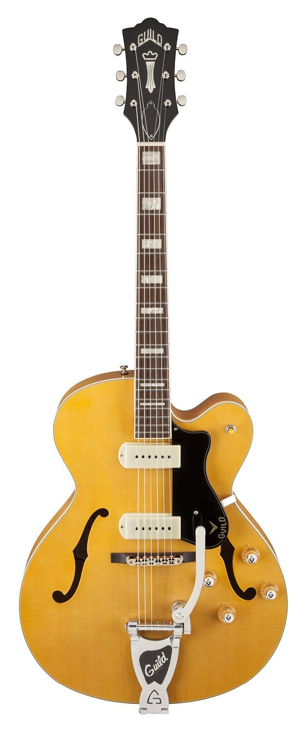 Cheap Guild X-175 Manhattan Hollow Body Electric Guitar with Case (Blonde) Black Friday & Cyber Monday 2019