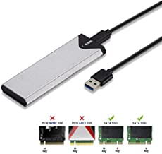 SSK Aluminum USB 3.1 to M.2 NGFF SSD Enclosure Adapter, External SATA Based M.2 Solid..