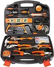 ZoSiP Sistema de Herramienta Multifuncional 106 Pieza Home Repair Tool Kit Casa General Juego De Herramientas De Mano con Plástico De Almacenamiento Case- Llave De Tubo De Martillo
