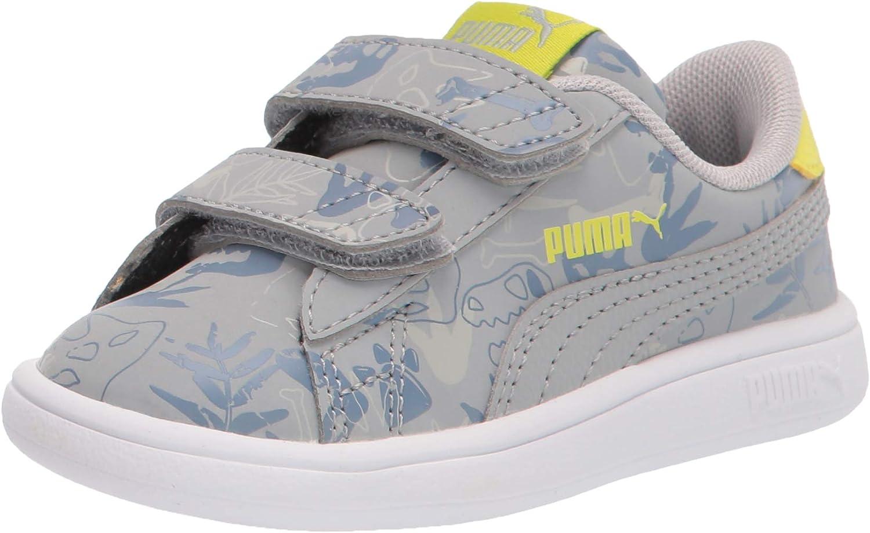 PUMA Unisex-Child Smash 2 Archeo Summer Hook and Loop Sneaker