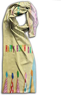 Adults Scarf Happy Birthday Day Bright Hat Designer Winter Scarves Holiday For Boys