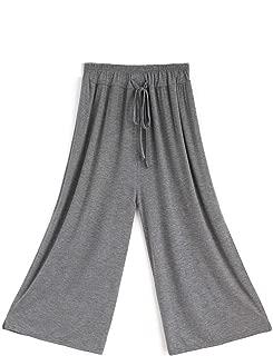 CHLXI Pantalones Kung Fu Pantalones de Baile Modernos para Mujeres Adultas divisiones clásicas Pantalones Sueltos práctica de Pierna Ancha Forma del Cuerpo Siete Puntos/Nueve Puntos
