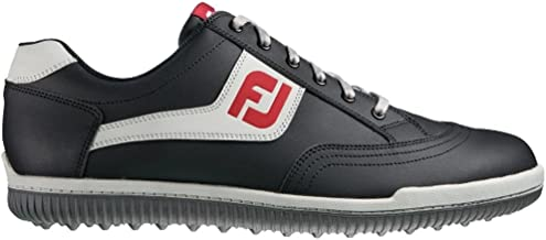 FootJoy Men's GreenJoys Spikeless Golf Shoes Black/Grey/Red Size 10.5 M US