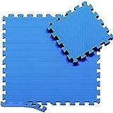 Esterilla Puzzle para Suelos de Gimnasio y Fitness   Set de Protección de Goma Espuma, Alfombrilla Protectora Expandible de 18 Losas + Bordes   Colchonetas para Máquinas de Deporte, Fácil de Limpia