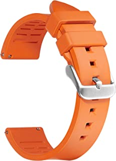 Afany Rubber Watch Band for Samsung Galaxy Watch 3 45mm/Galaxy Watch 46mm, 22mm Sport Replacement Bracelet Strap, Orange, ...