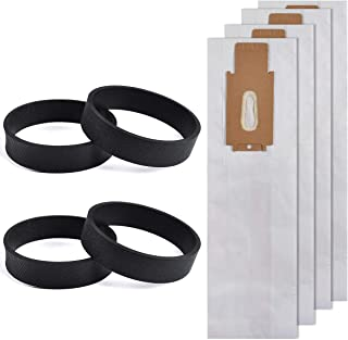 KEEPOW Replacement Belts & Vacuum Bags for Oreck XL Upright Vacuum (Pack of 8)