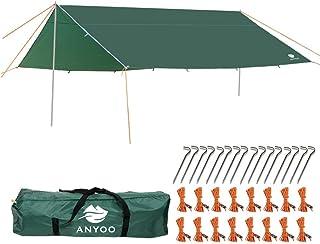 comprar comparacion Anyoo Ripstop Rain Tarp Beach Tent Hamaca Fly Sunshade Ligero Impermeable Shelter para Acampar Senderismo Backpacking