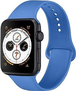 ATUP Correa Compatible para Apple Watch 38 mm 42 mm 40 mm 44 mm, Correas de Repuesto de Silicona Suave Compatible con iWat...