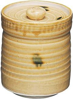 五陶(Goto) 水指 黄色 サイズ:直径13.1x高さ15cm 短冊用 黄瀬戸 紙箱入