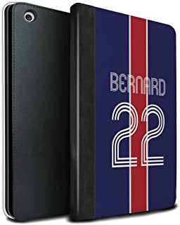 Personalized Custom Euro Soccer Club Jersey Kit PU Leather Case for Apple iPad Mini 1/2/3 / Blue Red Design/Initial/Name/Text DIY Tablet Book Cover