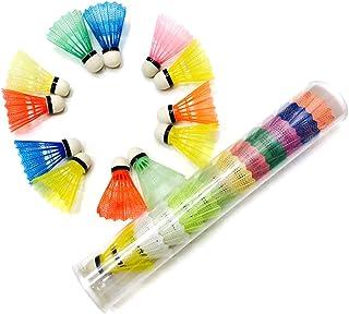 Uyuke 12 stks Badminton Shuttle Draagbare Plastic Training Badminton Bal Buitensporten Levert voor Indoor Outdoor Game