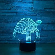 LXXYD 3D Visual Light Optical Illusion Led Night Light - Turtle 3D Light with Animal Night Light 7 Colors Change Night Lig...