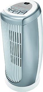 Bionaire Ventilador de torre oscilante con control remoto y temporizador, plateado/negro [BT19] Bmt014d - Ventilador de torre pequeña, color plateado y blanco