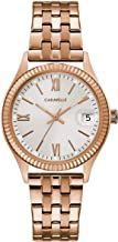 Caravelle Designed by Bulova Men's Quartz Watch with Stainless-Steel Strap, Rose Gold, 13.5 (Model: 44M115)