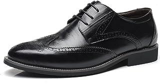 [WEWIN] ビジネスシューズ メンズ 本革 大きいサイズ カジュアル 革靴 レースアップ ファッション 軽量 防滑 柔らかい