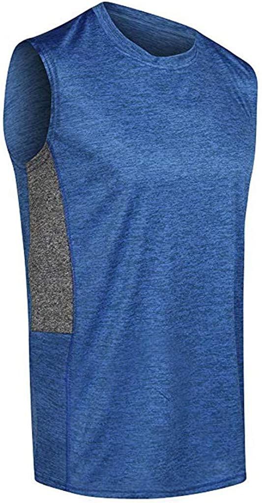 Gergeos 5 Pack Mens Dry Fit Active Athletic Running Tank Top Workout Training Activewear