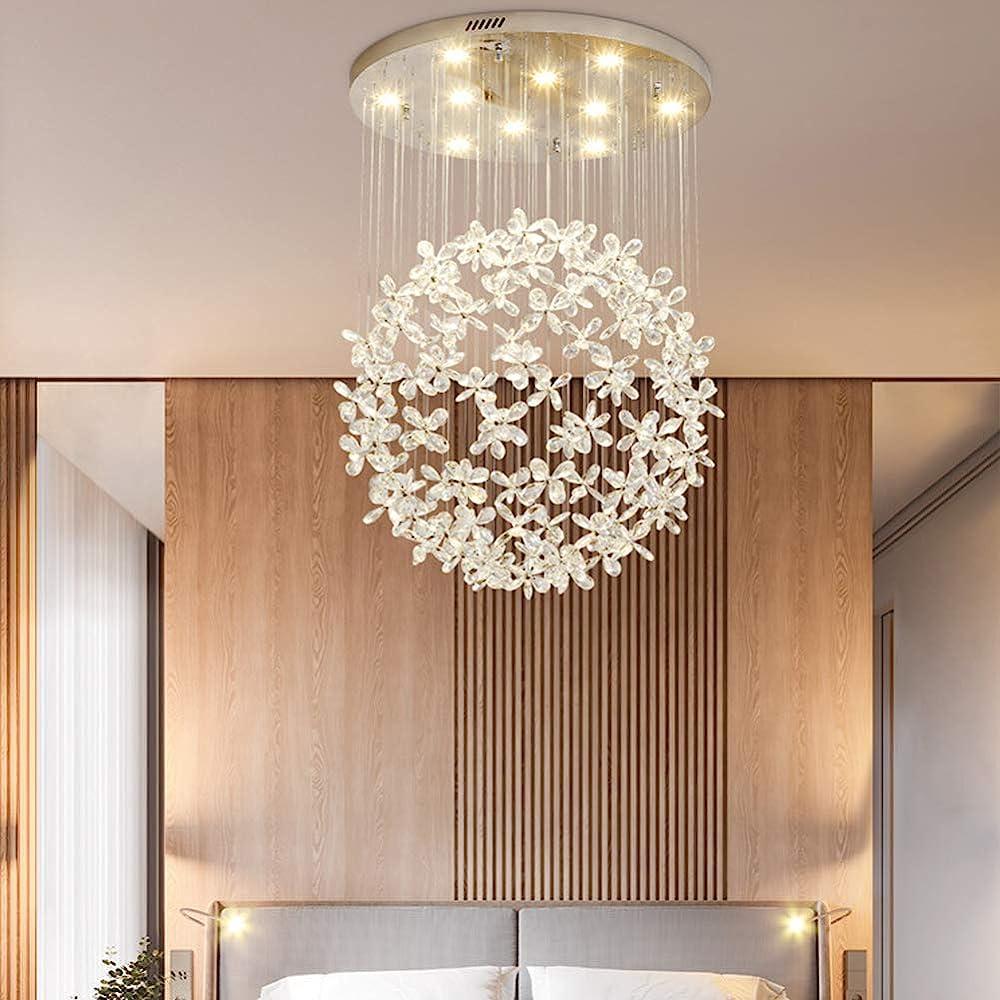Zxcvam crystal raindrop chandelier lighting lampada da soffitto a sospensione moderna ZXCVAM000112