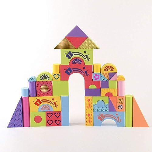 GKPLY Schaumstoffüruck-Bl e für Kinder - Kinder-Frühlern-Puzzle-Geb e-Spielzeug (50 Stück)