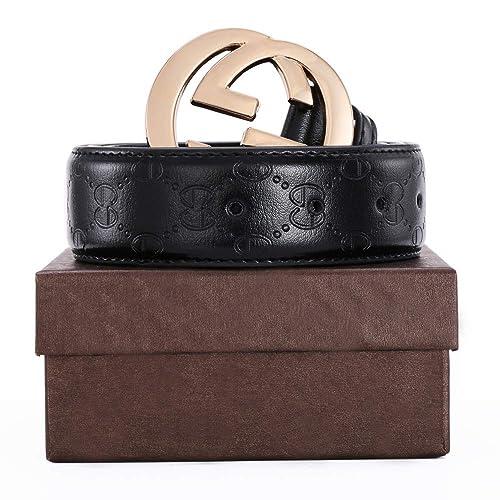 34109da1c05 Men s Geniune Leather Belt Slide Metal Buckle