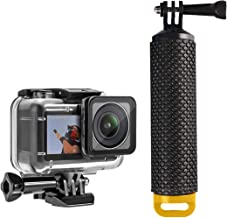 O'woda Waterproof Case + Floating Hand Grip Handle Underwater Diving Protective Housing ShellStick Monopod for DJI OSMO Action Cameras Accessories (Yellow)