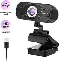 1080p HD Webcam, EIVOTOR USB Desktop Laptop Camera, Plug and Play Video Calling Mini Computer Camera, Built-in Mic, Flexible Rotatable Clip