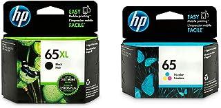 HP 65XL Black High Yield & HP 65 Tri-Colour Original Ink Cartridges 2 Cartridge Bundle (N9K04AN + N9K01AN)