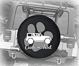 jeep paw print tire cover
