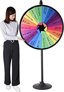 "WinSpin 36"" 18 Customizable Slots Large Prize Wheel with Stand Fortune Spinning Game for Live Stream Carnival Tradeshow"