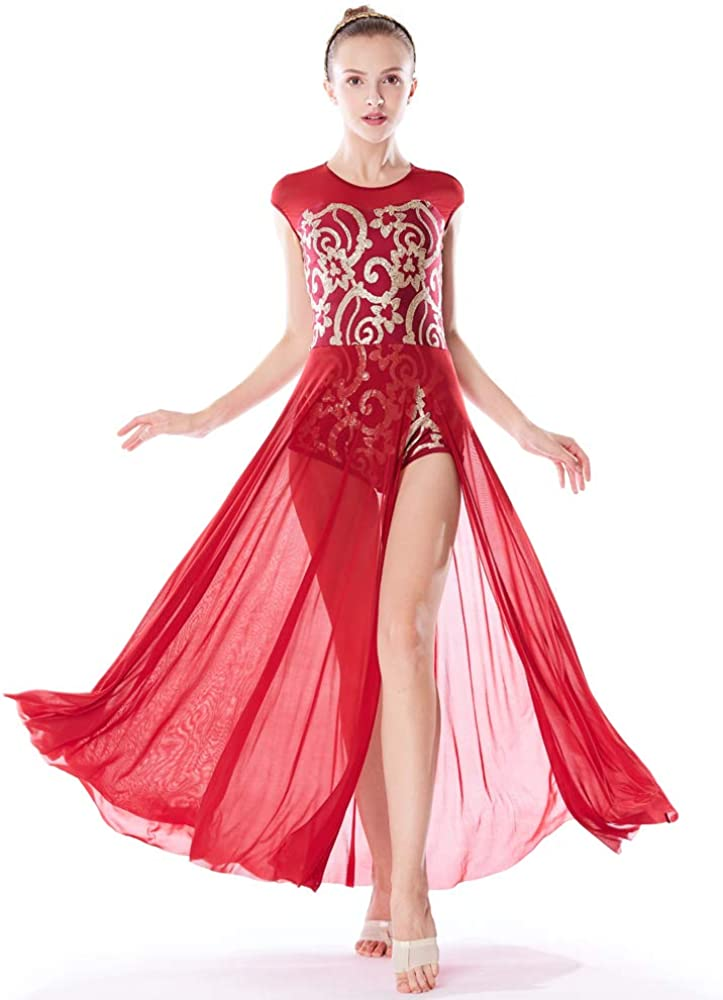 MiDee Lyrical Dress Dance Costume 4 Floral 激安特価品 Le Colors Tank 直営ストア Sequin