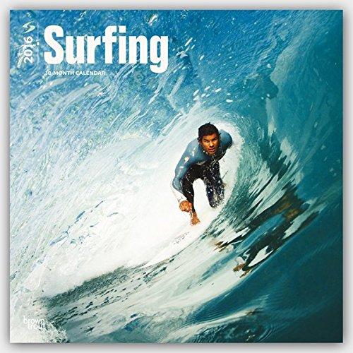 Surfing 2016 - Surfen - 18-Monatskalender: Original BrownTrout-Kalender [Mehrsprachig] [Kalender] (W