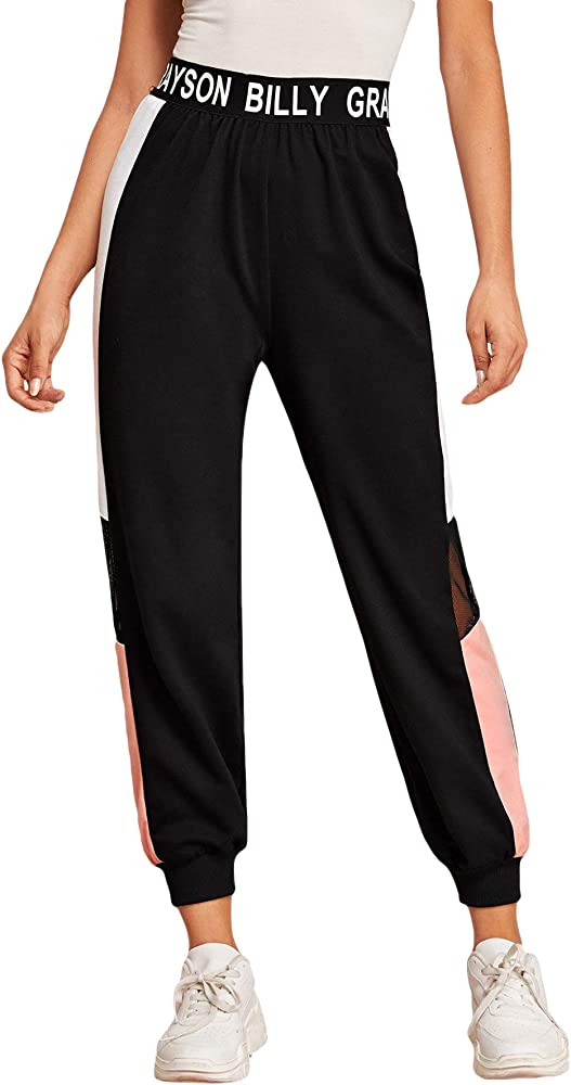 Soly hux, pantaloni sportivi da donna, in vita elasticizzata, per jogging,65% poliestere, 35% cotone 07190903505-12-16-S
