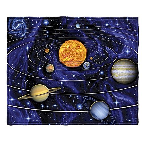 Dawhud Direct Solar System Super Soft Plush Fleece Throw Blanket