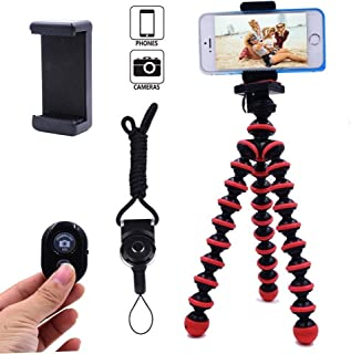 Phone Tripod, Ibeston Octopus Tripod for iPhone/Universal Smartphone/Cell Phone/Camera Arbitrary Installed with Remote Control