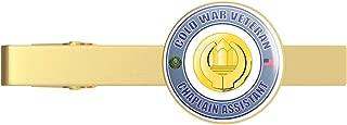 Gold U.S. Army Cold War Chaplain Assistant Veteran Gold Tie Clip Tie Bar Veteran Gift