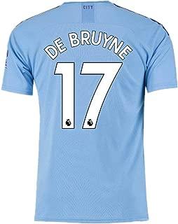 #17 De Bruyne Soccer Jersey Manchester City Home Mens 2019-2020 Season Blue