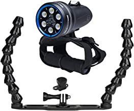 Light and Motion Sola Dive Light (1200-Lumens) W Camera Tray Underwater Video Setup