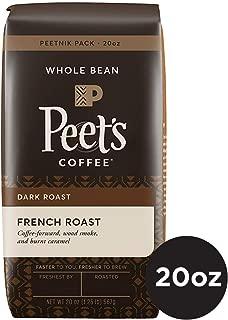 Peet's Coffee French Roast Dark Roast Whole Bean Coffee, 20 Ounce Bag Peetnik Value Pack