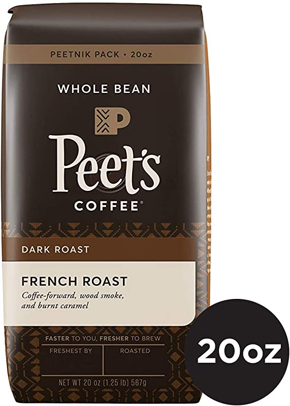 Peet S Coffee French Roast Dark Roast Whole Bean Coffee 20 Ounce Bag Peetnik Value Pack