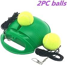 Lazapa Tennis Trainer Rebounder Ball, Outdoor Tennis Trainer with Imitation Tennis Design, Perfect Solo Tennis Trainer - Rebound Baseboard Fit for Tennis Beginner Training + 2 Balls