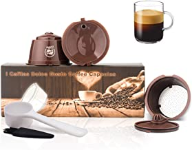 i Cafilas Refillable Coffee Capsule Reusable Pod Stainless Steel Coffee Filter for Dolce Gusto with Spoon (Capsule)