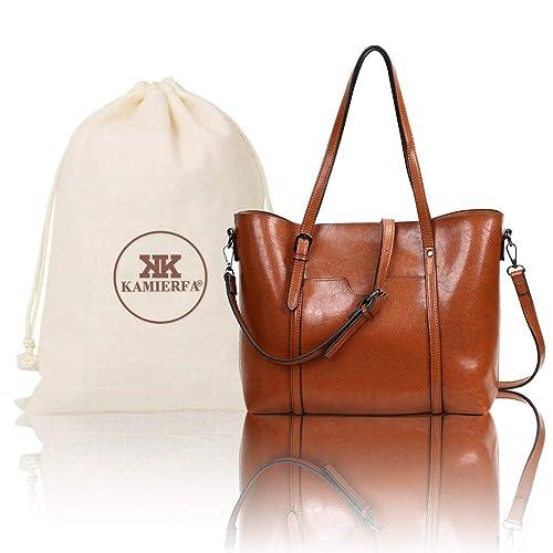 KAMIERFA Tote Bags for Women Designer Italian PU Leather Large Capacity  Classic Ladies Tote Handbags Cross cd75b06d93abc