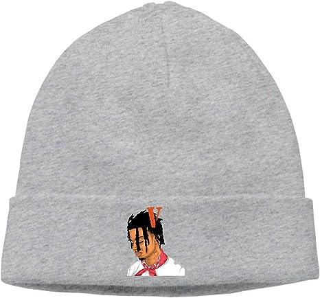 WangSiwe Playboi Carti Beanie Caps Skull Cap Knitting Hat Warm Winter Hedging Cap for Men Women Black