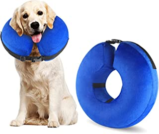 Protective Inflatable Cone Collar for Dogs and Cats, Soft Pet Recovery E-Collar Cone Small Medium Large Dogs, Designed to ...