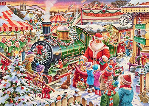 1000 Piece Christmas Village Paper Jigsaw Puzzle for Kids Adult,Christmas Jigsaw Puzzle Games Decoration Large Adult and Children's Puzzle Festival Gift Virtual Puzzle Christmas