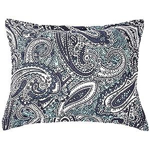 AmazonBasics 8-Piece Comforter Bedding Set, King, Blue Paisley, Microfiber, Ultra-Soft