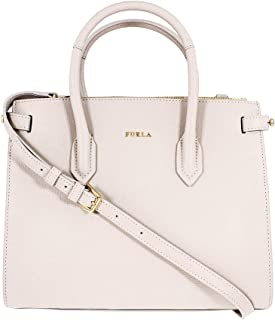 Pin Ladies Small White Perla Leather Tote 977680