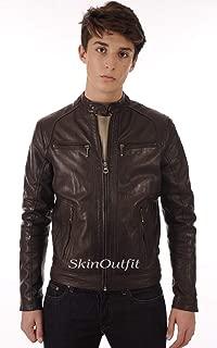 SKINOUTFIT Mens Leather Jackets Motorcycle Bomber Biker Genuine Lambskin 81